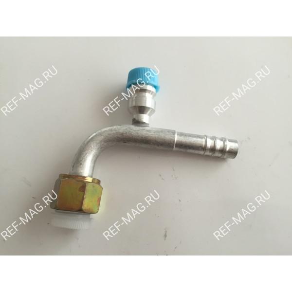 Фитинг соединительный, под обжимку, аллюминий, гайка-сталь, 1/2,90 гр. R134, RC-U0751