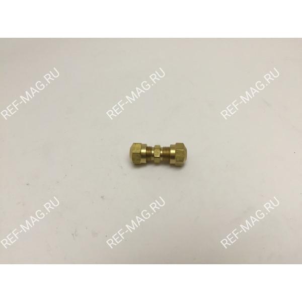 Соединитель пластиковых трубок 1/4, RI-11-6861
